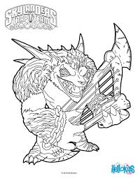 wolfgang coloring page from skylanders trap team video game more