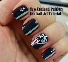 new england patriots fan nail art tutorial youtube