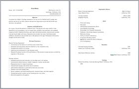 resume example two page resume example free 2 page resume format