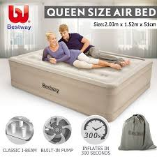 travel mattress images Bestway queen air bed 51cm inflatable blow up mattress w built in jpg