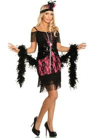glamorous witch costume 1920 u0027s flapper costume black and pink flapper dress