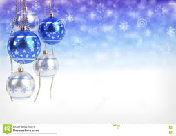 blue and silver balls hanging on bokeh background 3d