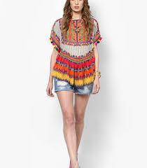 tops online buy multicolor georgette printed tops top online designer tops