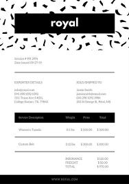 invoice templates canva