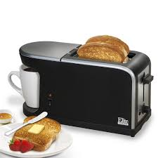 elite cuisine elite cuisine breakfast station 2 slice toaster and single serve