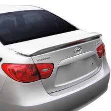 hyundai accent 2012 t5i hyundai accent 2012 2017 custom style rear spoiler with light