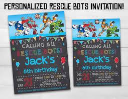 rescue bots invitation rescue bots birthday by superinstantparty