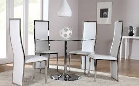 Circular Glass Dining Table And Chairs Round Glass Dining Room Table