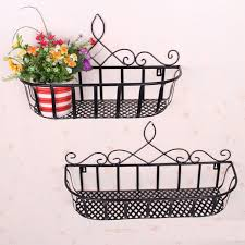 Wrought Iron Wall Shelves Country Wrought Iron Balcony Living Room Wall Flower Planters