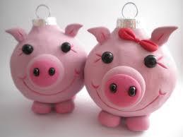 pig ornaments by sleepydenas on etsy pigs ornament