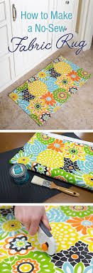 Diy Kitchen Rug Add Color To Your Home With This No Sew Project Diy A Doormat Or