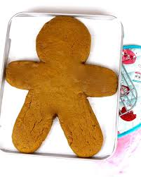 video giant gingerbread man cookie lindsay ann bakes