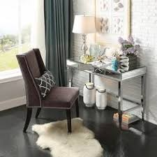 whitney mirrored writing desk chrome inspire q chrome desks
