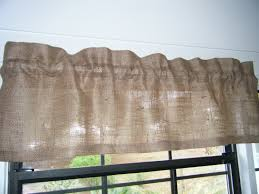 Burlap Ruffle Curtain Decor Wonderful Burlap Valance For Wondrous Window Curtain