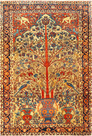 Persian Rugs Guide by Antique Persian Fine Sarouk Farahan Tree Of Life Rug 48624