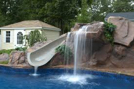 decorating home outdoor waterfall to be beauty house design and