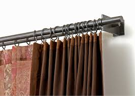 Design Ideas For Heavy Duty Curtain Rods Curtains Rod Desyne And White Traverse Curtain Rod Design With