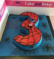 number 3 spiderman web u2013 cake and bake