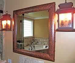 copper bathroom mirrors medium distressed copper mirror frame