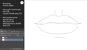 how to draw a realistic lips in photoshop kajenna art