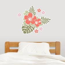 hawaiian flowers wall decal sticker hawaiian flowers wall art decal