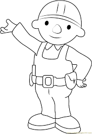 bob builder showing coloring free bob