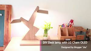 Diy Desk Design by Diy Desk Lamp Using Lg Display Oled Light Panel Youtube