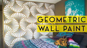 diy geometric wall paint youtube