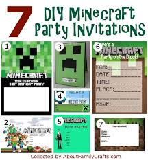 minecraft birthday invitations 50 diy minecraft birthday party ideas about family crafts
