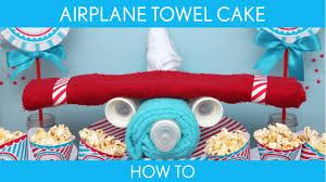 airplane baby shower how to make airplane towel cake baby shower airplane s1