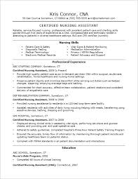 Cna Objective Resume Cna Sample Resume Free Resumes Tips