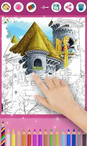 rapunzel coloring pages android apps google play