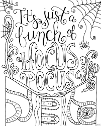 hocus pocus coloring page dawn nicole hocus pocus and halloween