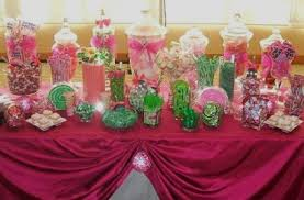 pink candy buffet time for the holidays
