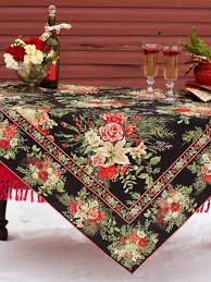 Christmas Table Cloths by Holly Black Apron Sitemap Beautiful Designs By April Cornell