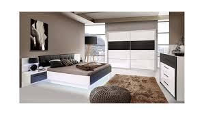 Schlafzimmer Bett Mit Led 2 Recover Weiß Hochglanz Eiche Schwarz Mit Led