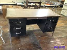 Vintage Metal Office Desk Office Desk Vintage Metal Desks For Sale Used Simple Home Design