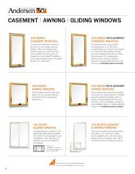 Awning Sizes Andersen Brochure 400 200 100 Series Window Door Replacement 9046527