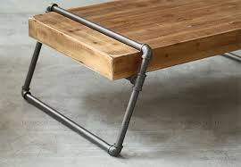 wood and pipe table american pine wood tea table iron pipes boutique style long table