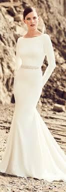plain wedding dresses stunning winter wedding dresses the magazine