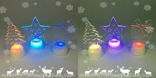 led light clear acrylic ornaments color changing