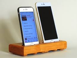 the eichler dual dock in cherry u2013 fits all iphone models leave