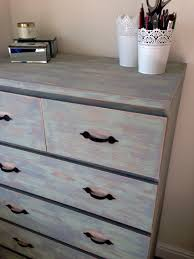 ikea hack 6 drawer malm unit refurbished and distressed with rust