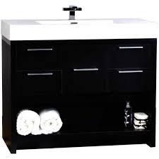 Bathroom Vanities 36 Inch White Bathroom Black Bathroom Vanity With White Sink 31 Milano