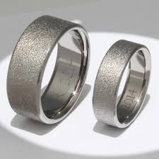 titanium wedding rings titanium wedding ring set stn12frost titanium rings studio