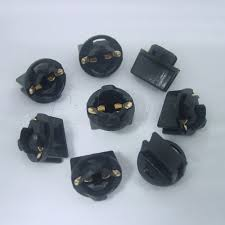 10pcs t10 555 led bulb socket twist lock wedge instrument base
