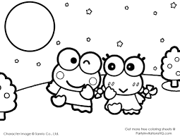 keroppi coloring pages 6 cute kawaii resources