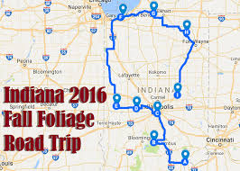 Indiana Road Map These 9 Places Have The Best Fall Foliage In Indiana