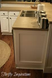 kitchen cabinet ends pure white cabinet transformations redo love the moulding she put