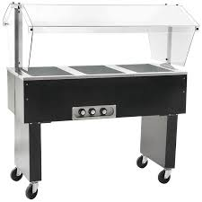 White Buffet Table by Eagle Group Bpdht3 Three Pan Deluxe Service Mates Portable